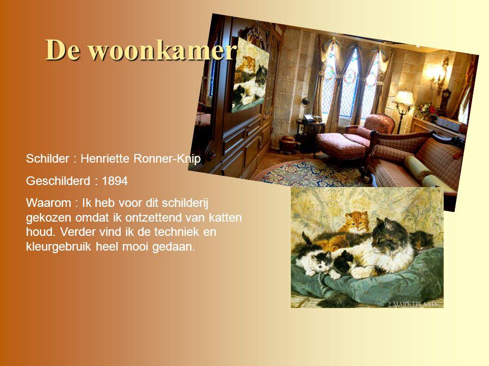 Schilder : Henriette Ronner-Knip Geschilderd : 1894 Waarom : Ik heb voor dit schilderij gekozen omdat ik ontzettend van katten houd. Verder vind ik de
