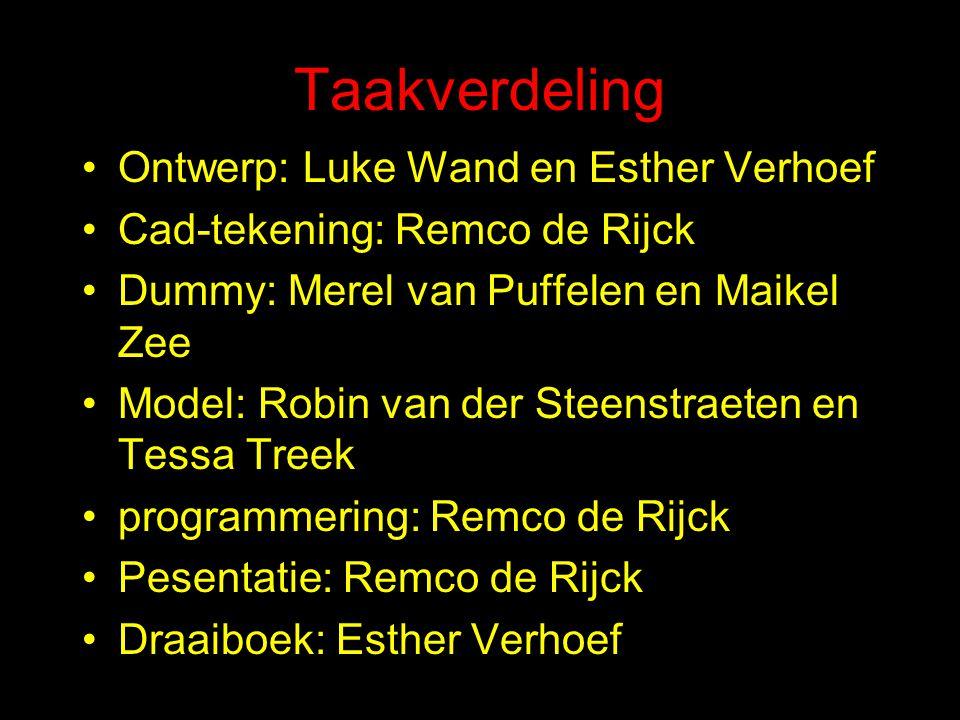 Groep 4 bestaat uit: Merel van Puffelen Tessa Treek Esther Verhoef Luke Wand Remco de Rijck Robin van der Steenstraeten Maikel Zee