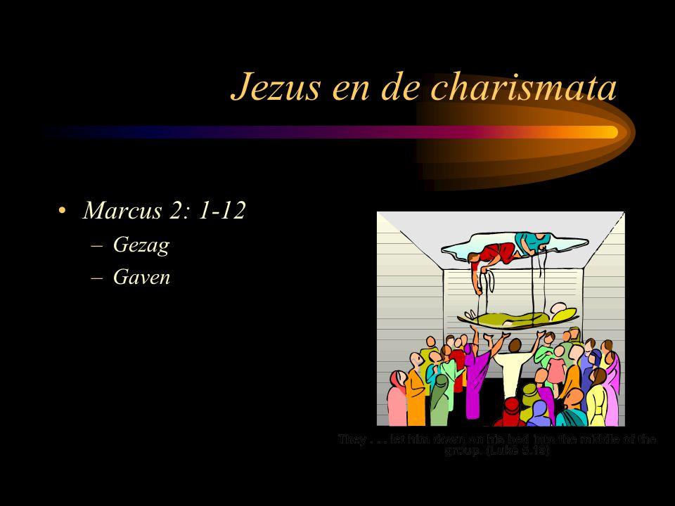 Jezus en de charismata Marcus 2: 1-12 –Gezag –Gaven Jezus hield gelijkheid aan God niet vast, Filippenzen 2: 6 en 7