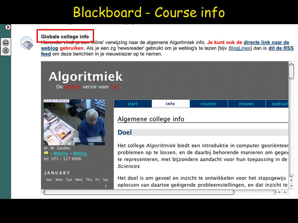 Blackboard - Course info