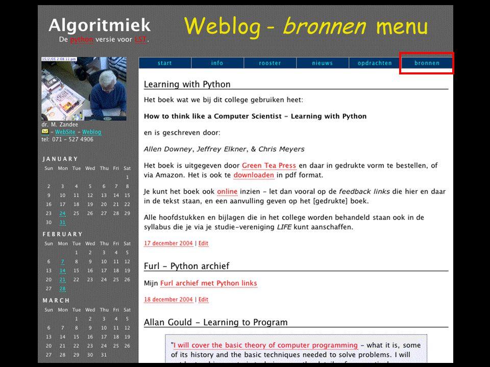 Weblog: search optie
