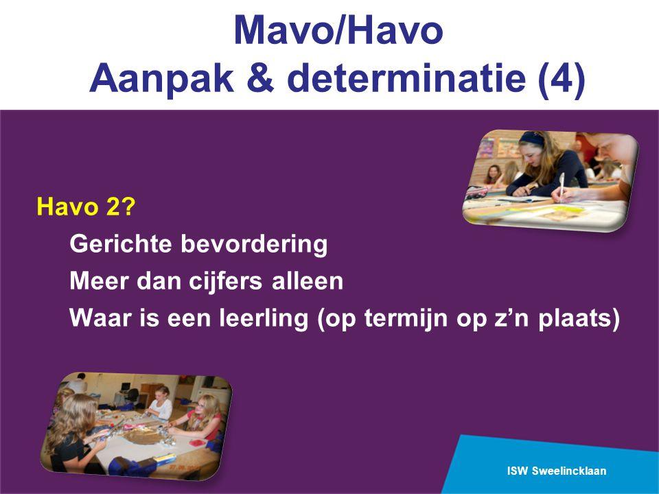 ISW Sweelincklaan Mavo/Havo Aanpak & determinatie (4) Havo 2.