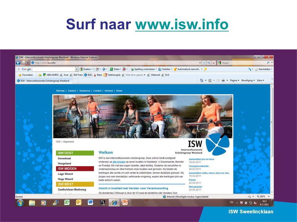 ISW Sweelincklaan Surf naar www.isw.infowww.isw.info