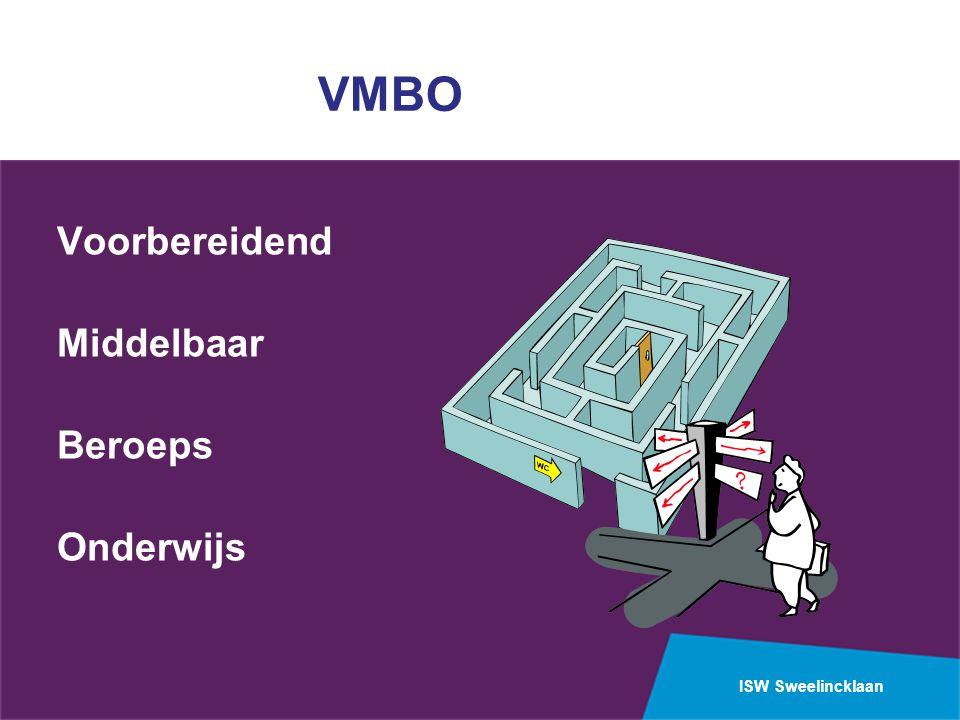 ISW Sweelincklaan VMBO Voorbereidend Middelbaar Beroeps Onderwijs
