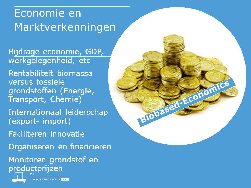Macro-economische Verkenning (2008) Jaarlijkse inkomens in de sectoren energie en chemie met en zonder groene grondstoffen (in miljoen euro)