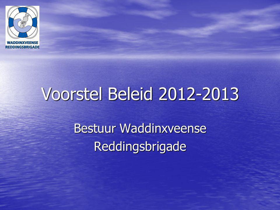 Voorstel Beleid 2012-2013 Bestuur Waddinxveense Reddingsbrigade