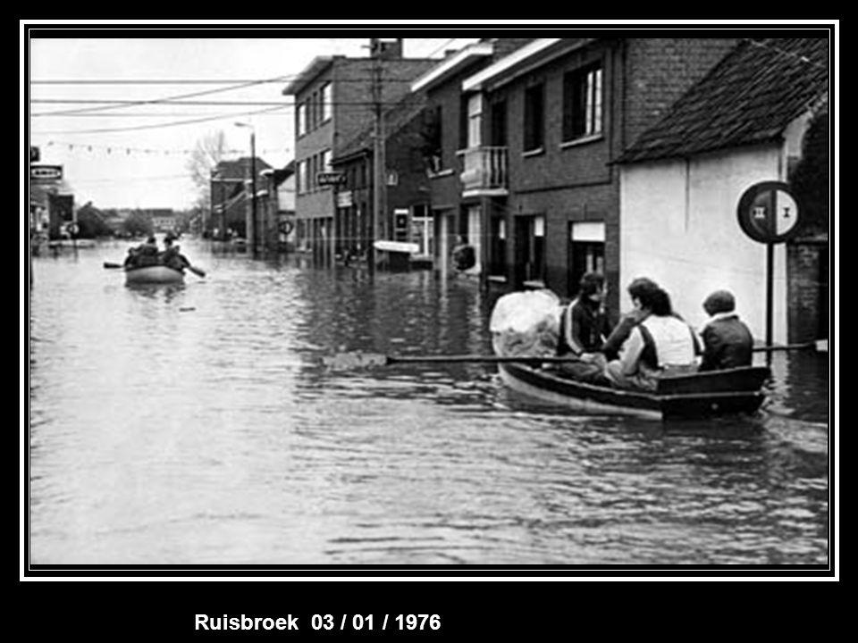 Overstroming Baasrode 29 / 11 / 1974