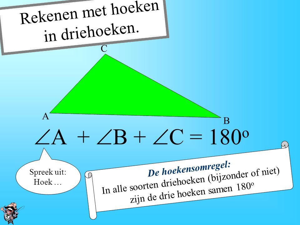 F-hoeken In een F-figuur zijn twee lijnen evenwijdig en zijn de F-hoeken gelijk.