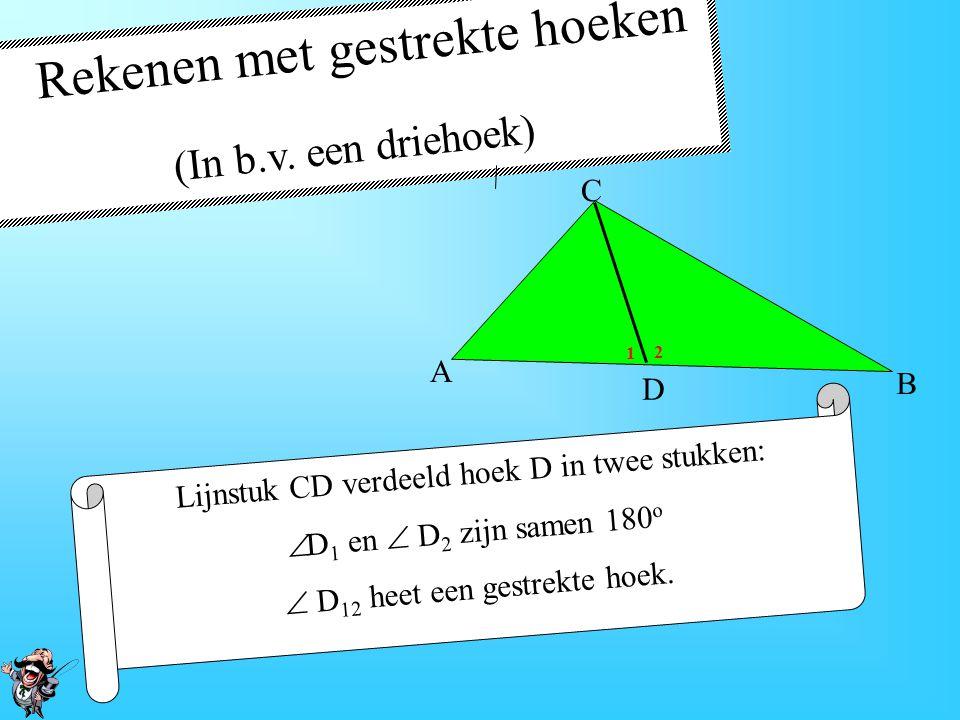 De bissectrice of deellijn In een driehoek snijden de drie deellijnen elkaar in één punt.