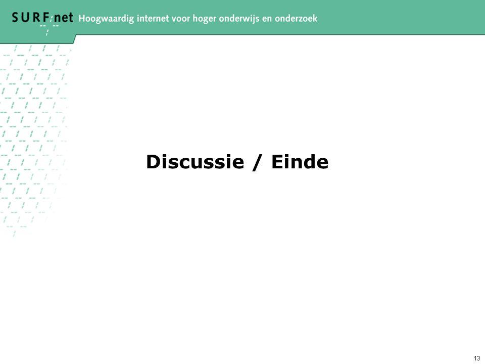 13 Discussie / Einde