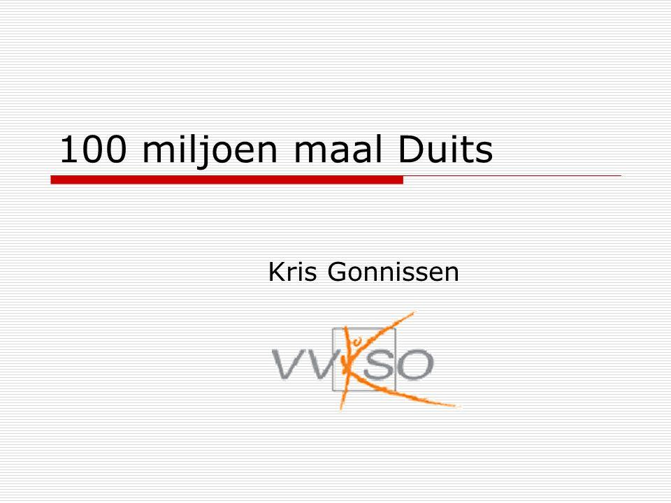 100 miljoen maal Duits Kris Gonnissen