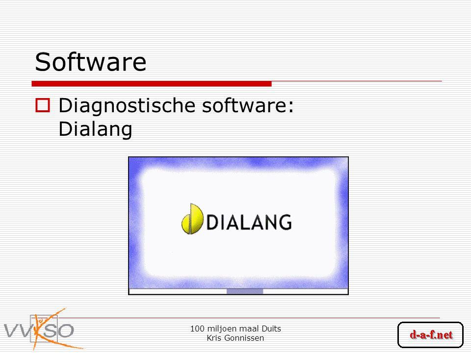 100 miljoen maal Duits Kris Gonnissen Software  Diagnostische software: Dialang