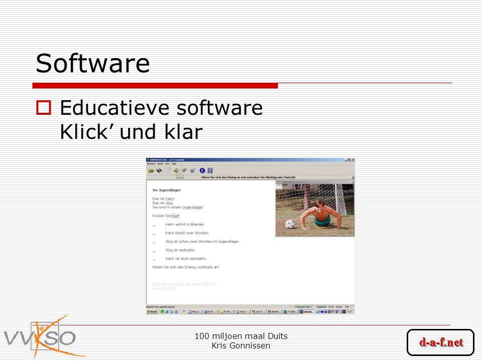 100 miljoen maal Duits Kris Gonnissen Software  Educatieve software Klick' und klar