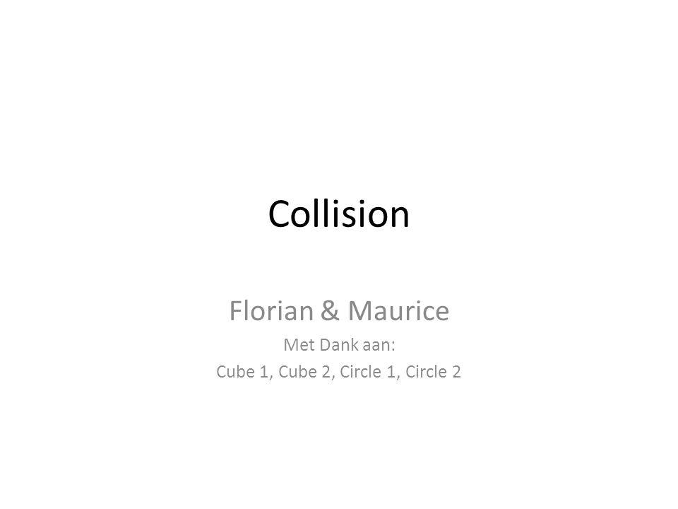 Collision Florian & Maurice Met Dank aan: Cube 1, Cube 2, Circle 1, Circle 2