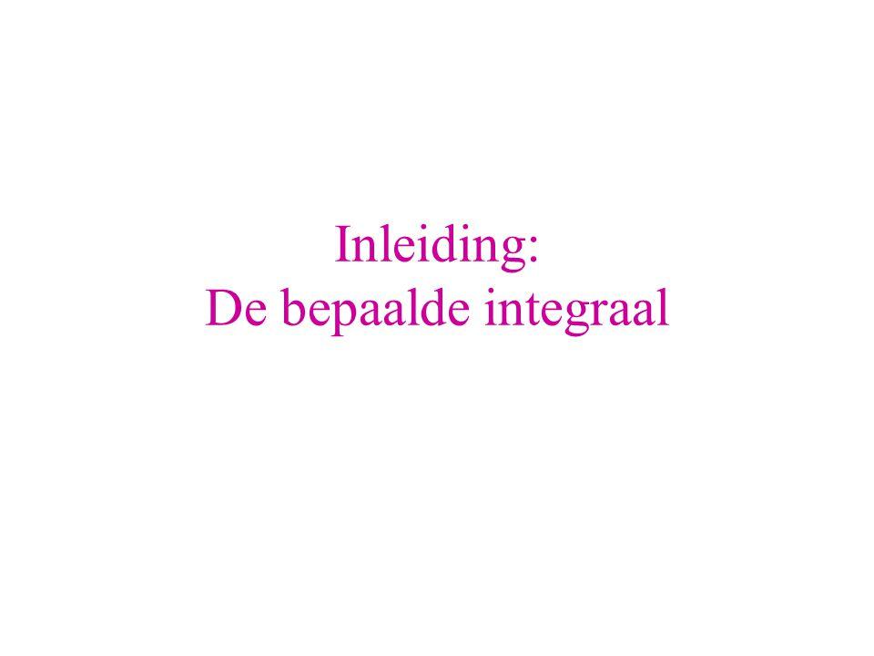 Inleiding: De bepaalde integraal
