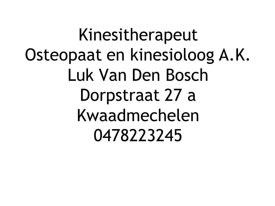  Van Den Bosch Luk  Kinesitherapeut Osteopaat D.O.