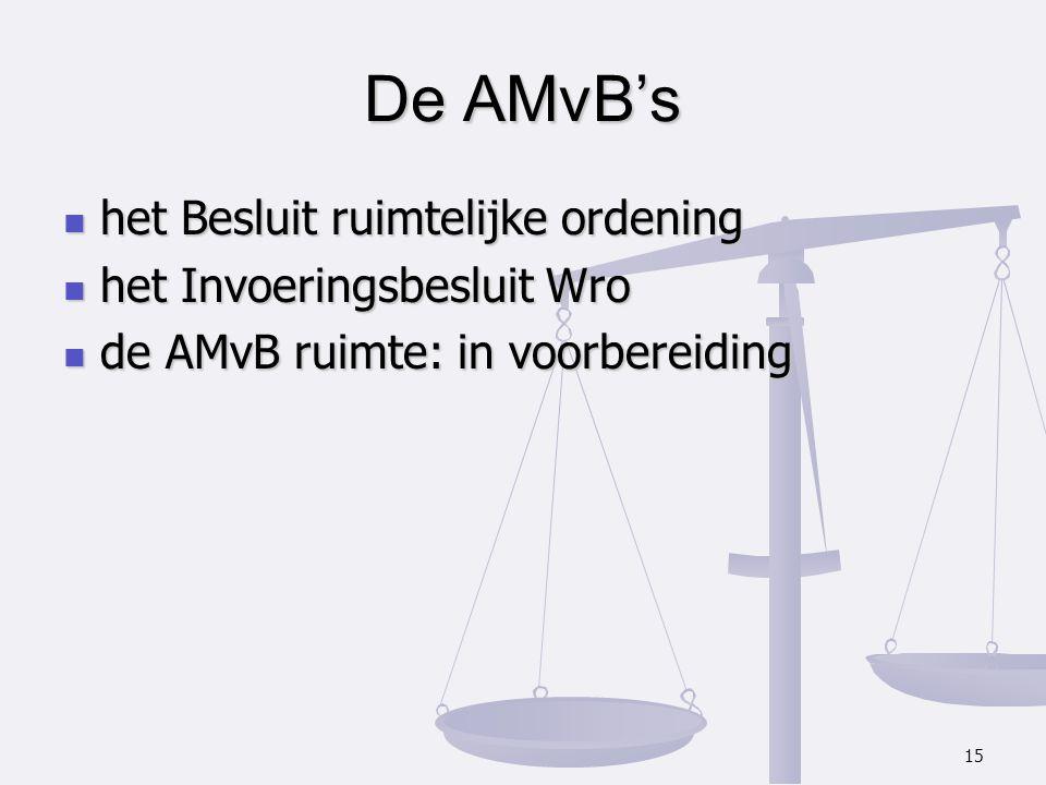het Besluit ruimtelijke ordening het Besluit ruimtelijke ordening het Invoeringsbesluit Wro het Invoeringsbesluit Wro de AMvB ruimte: in voorbereiding