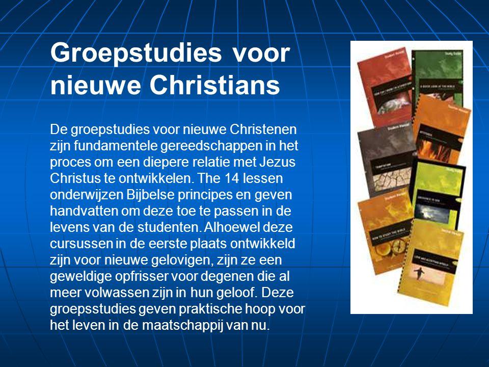 De groepstudies voor nieuwe Christenen zijn fundamentele gereedschappen in het proces om een diepere relatie met Jezus Christus te ontwikkelen.