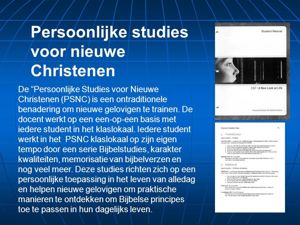 De Persoonlijke Studies voor Nieuwe Christenen (PSNC) is een ontraditionele benadering om nieuwe gelovigen te trainen.