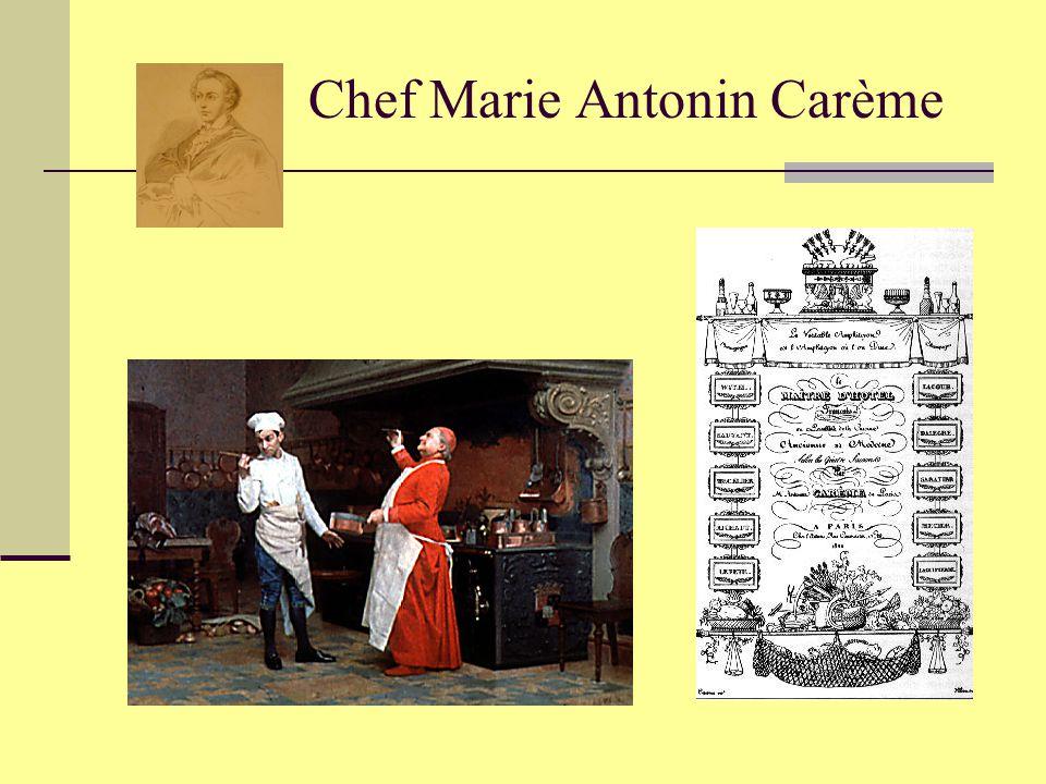 Chef Marie Antonin Carème