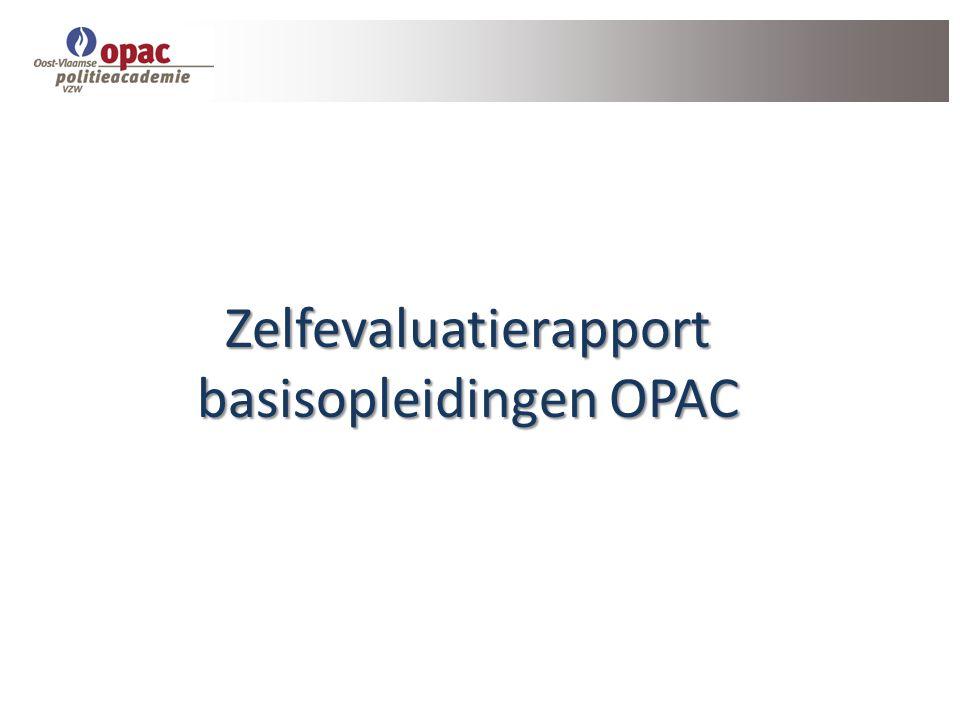 Zelfevaluatierapport basisopleidingen OPAC