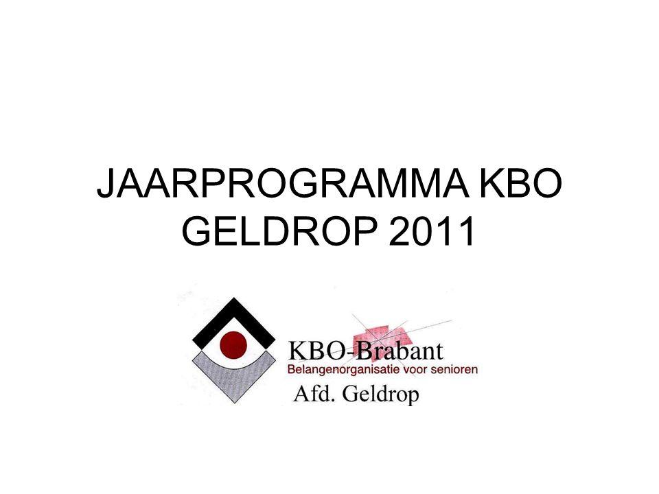 JAARPROGRAMMA KBO GELDROP 2011