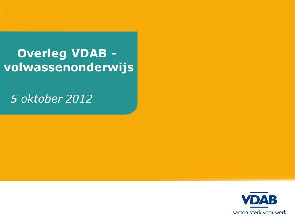 Overleg VDAB - volwassenonderwijs 5 oktober 2012