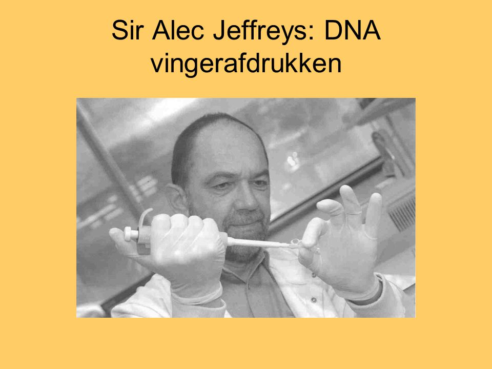 Sir Alec Jeffreys: DNA vingerafdrukken