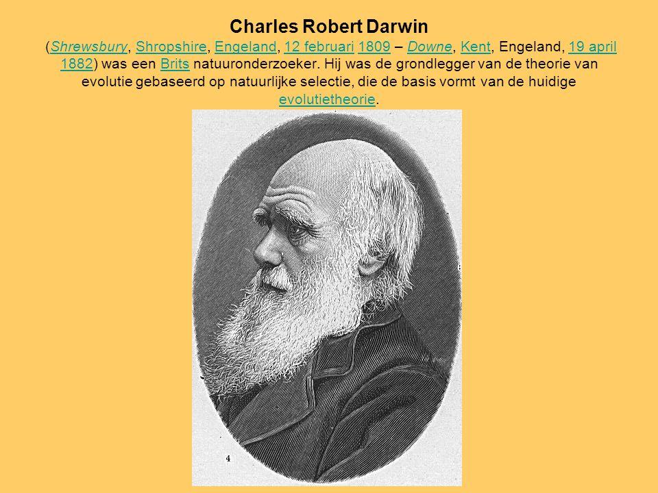 Charles Robert Darwin (Shrewsbury, Shropshire, Engeland, 12 februari 1809 – Downe, Kent, Engeland, 19 april 1882) was een Brits natuuronderzoeker. Hij