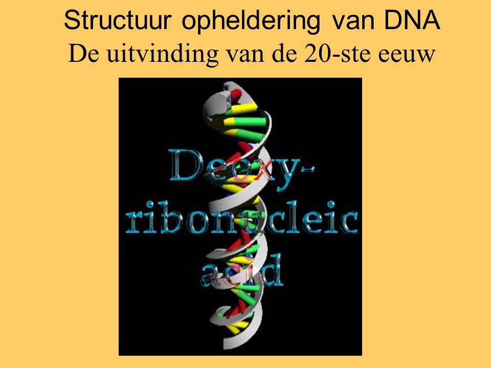 Structuur opheldering van DNA De uitvinding van de 20-ste eeuw