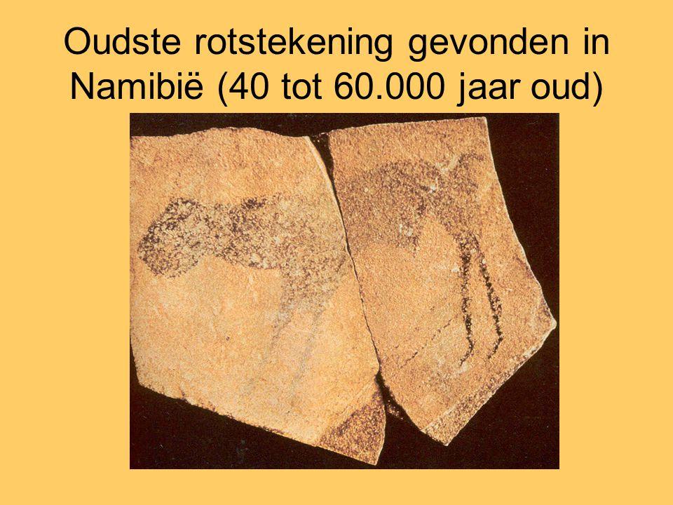 Oudste rotstekening gevonden in Namibië (40 tot 60.000 jaar oud)