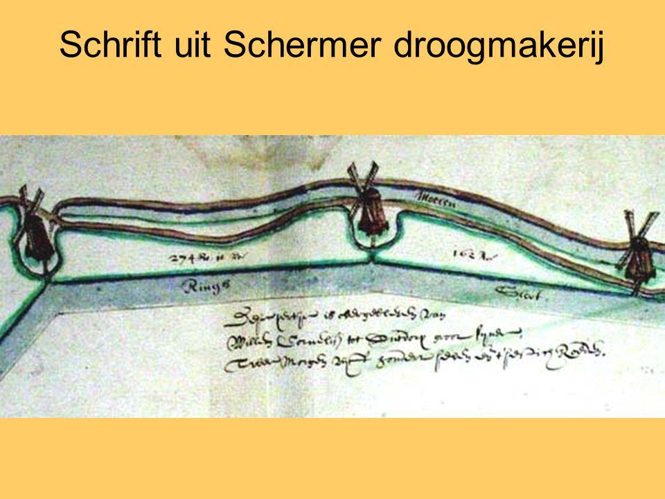 Schrift uit Schermer droogmakerij