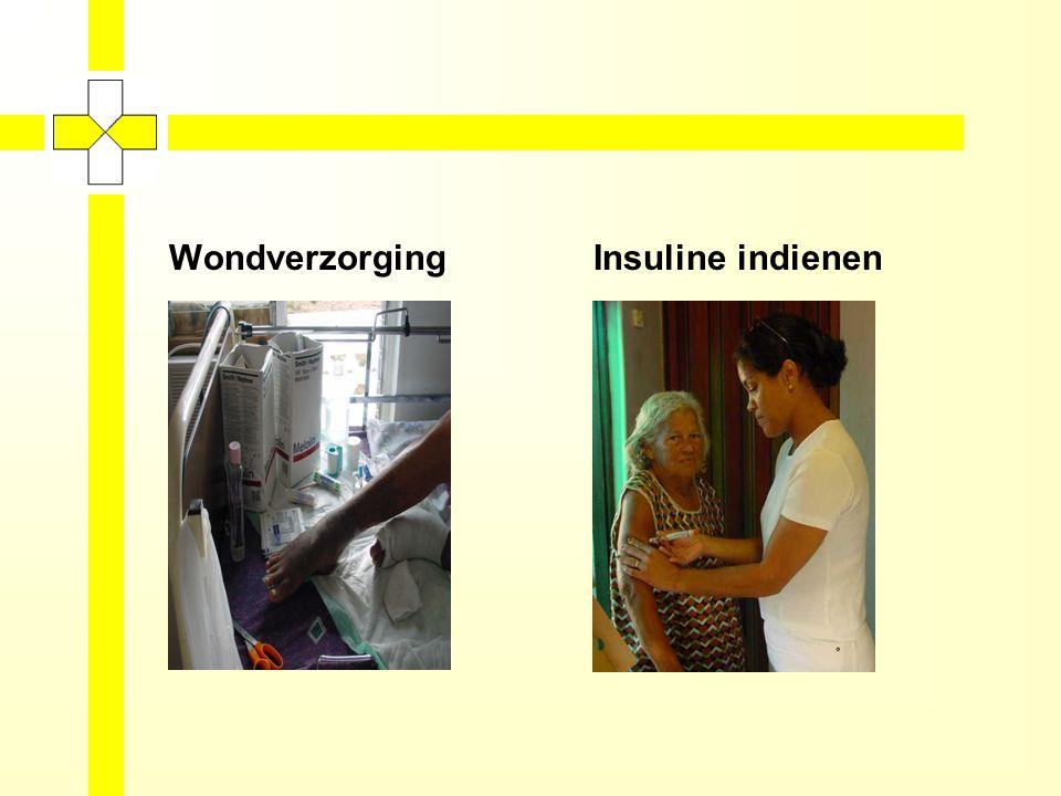 ACTIVITEITEN WIJKZORG Lichamelijke verzorging Wondverzorging Injecties toedienen Insuline toedienen Instructie injecteren bij o.a.