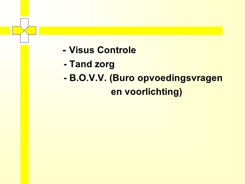 Kleuter: -Huisbezoeken -Vaccineren -Consultatiebureaus -Screening gehoor Zuigelingen: -Huisbezoeken -Consultatiebureaus -Vaccineren -Screening ontwikkeling en gehoor -Visus Controle ACTIVITEITEN OUDER- EN KINDZORG/ KRAAMZORG