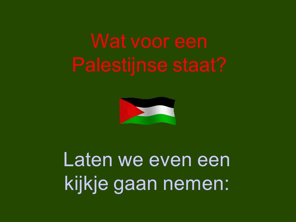 Wat voor een Palestijnse staat Laten we even een kijkje gaan nemen: