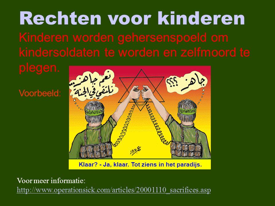 Rechten voor kinderen Kinderen worden gehersenspoeld om kindersoldaten te worden en zelfmoord te plegen.