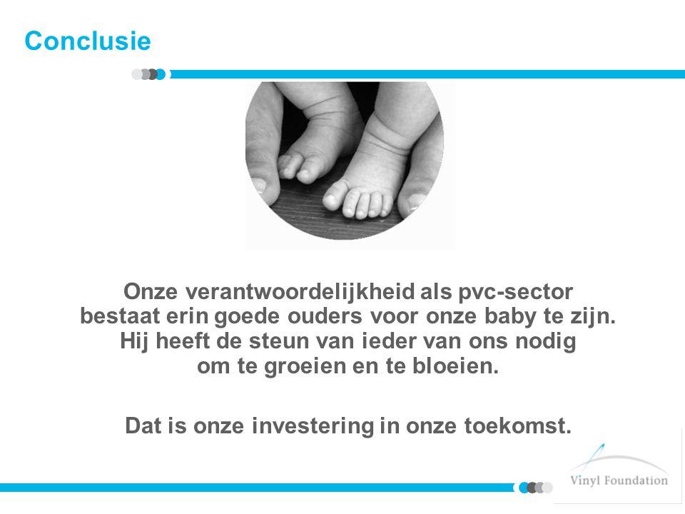 Conclusie Onze verantwoordelijkheid als pvc-sector bestaat erin goede ouders voor onze baby te zijn.