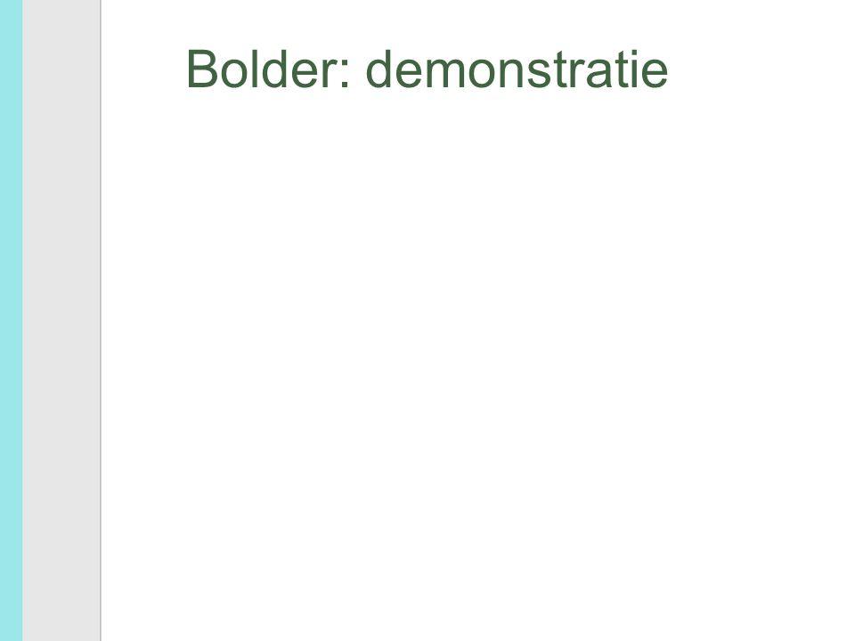 Bolder: beveiliging study database drie nivo's – algemeen toegankelijk – per instelling beveiligde informatie: gemeenschappelijk account – per bestand wachtwoord