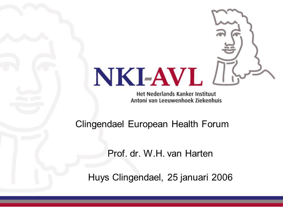 Clingendael European Health Forum Prof. dr. W.H. van Harten Huys Clingendael, 25 januari 2006