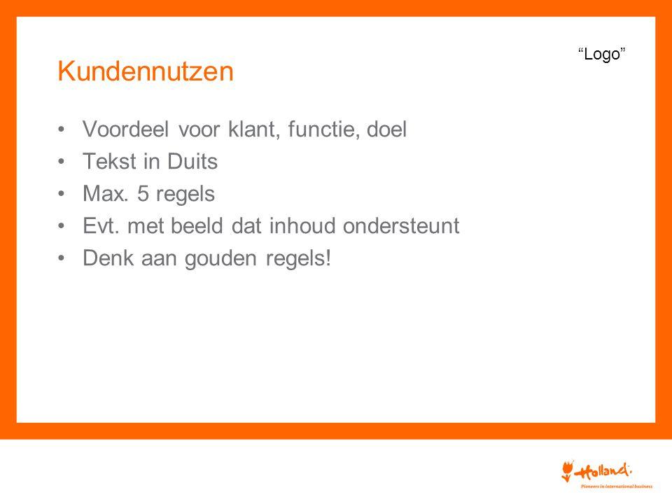 Kundennutzen Voordeel voor klant, functie, doel Tekst in Duits Max.