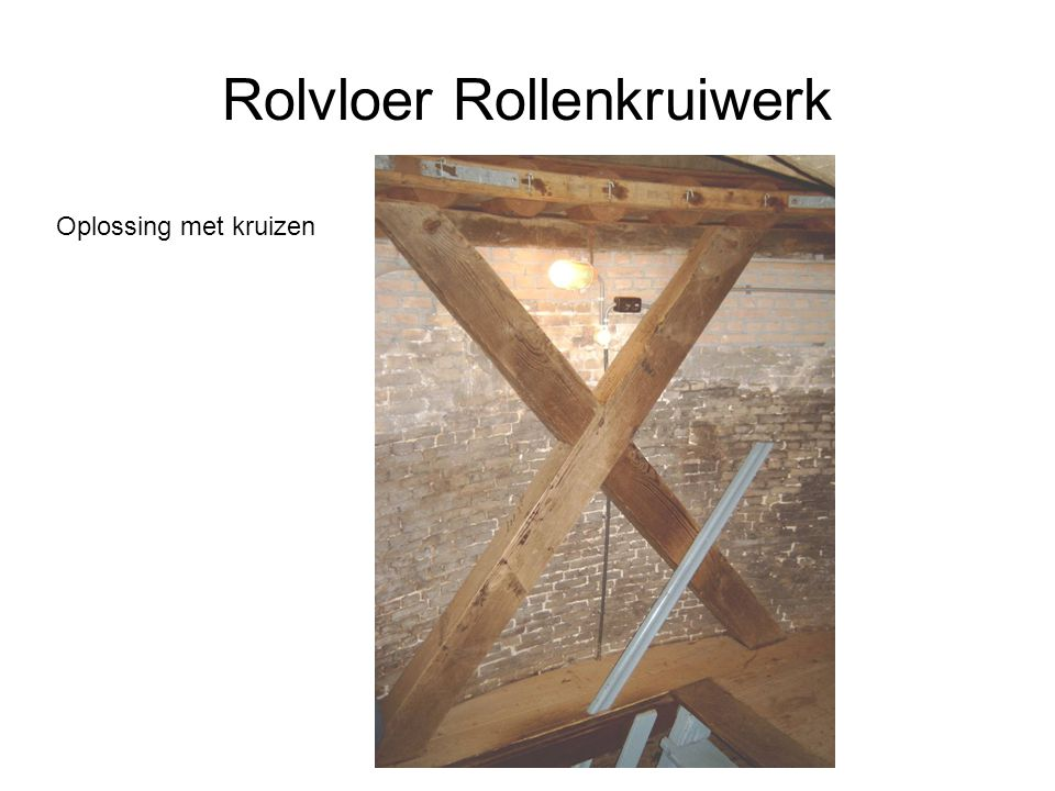 Rolvloer Rollenkruiwerk Oplossing met kruizen
