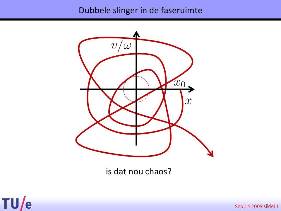 Sep 14 2009 slide Dubbele slinger in de faseruimte 11 is dat nou chaos?