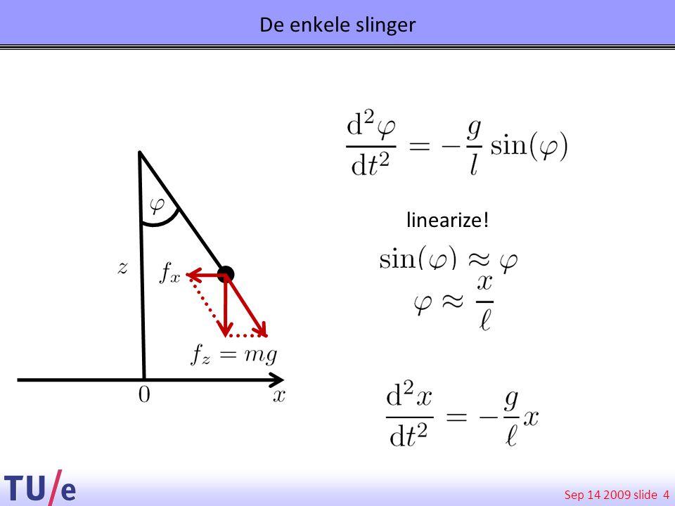 Sep 14 2009 slide De enkele slinger 4 linearize!