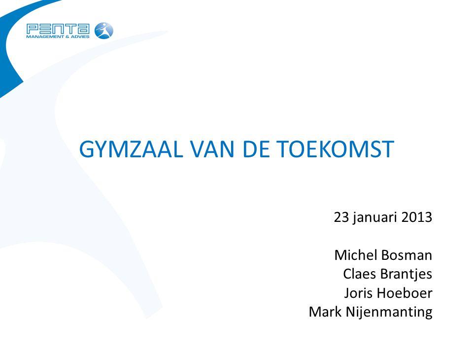 GYMZAAL VAN DE TOEKOMST 23 januari 2013 Michel Bosman Claes Brantjes Joris Hoeboer Mark Nijenmanting