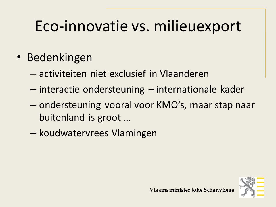 Eco-innovatie vs.