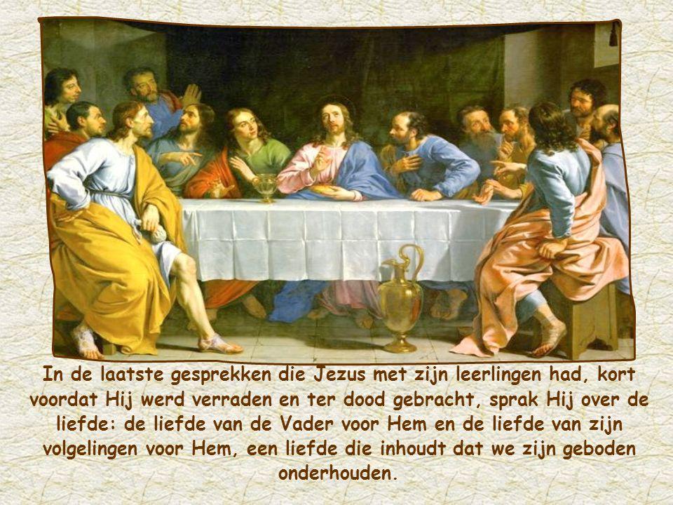 """""""Wie Mij liefheeft zal de liefde van mijn Vader en Mij ontvangen, en Ik zal Mij aan hem bekend maken."""" Johannes 14,21"""