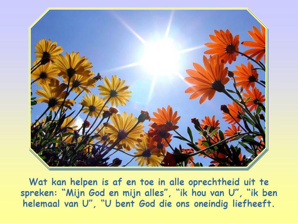 God kiezen als ons enige ideaal, als degene die alles is in ons leven.