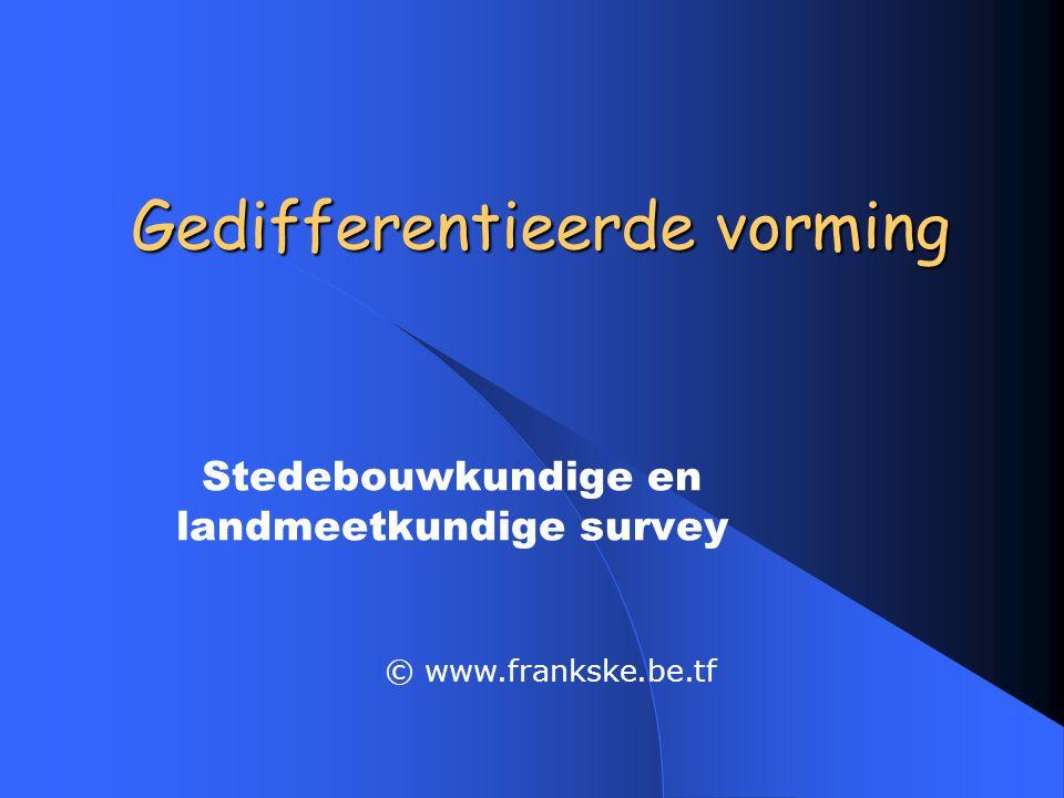 Gedifferentieerde vorming Stedebouwkundige en landmeetkundige survey © www.frankske.be.tf