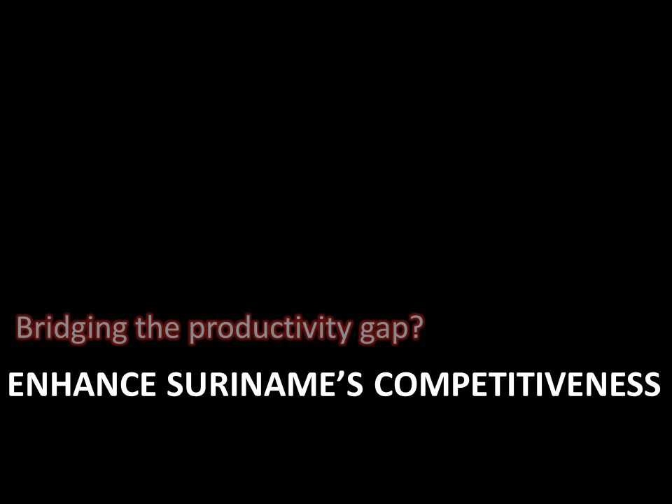 ENHANCE SURINAME'S COMPETITIVENESS