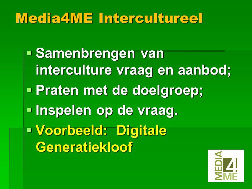  Samenbrengen van interculture vraag en aanbod;  Praten met de doelgroep;  Inspelen op de vraag.